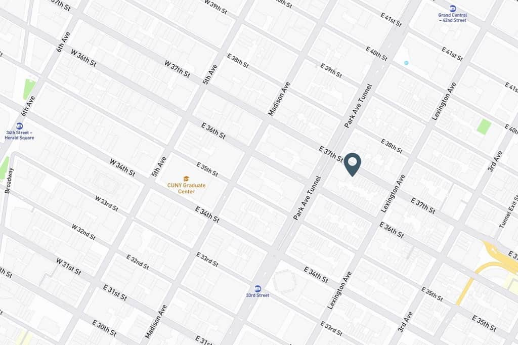 Samuel Realty Group | 104 East 37th Street, Apt 5B, Murray Hill, NY 10016 Map