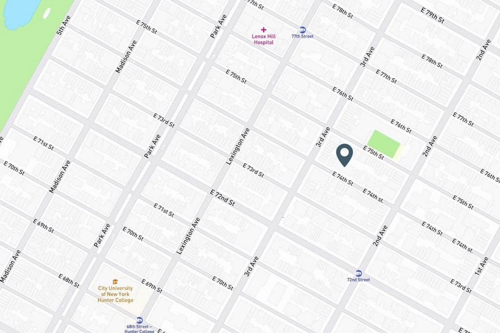 Samuel Realty Group | 207 East 74th Street, Apt 1D, Lenox Hill, NY 10021 Map