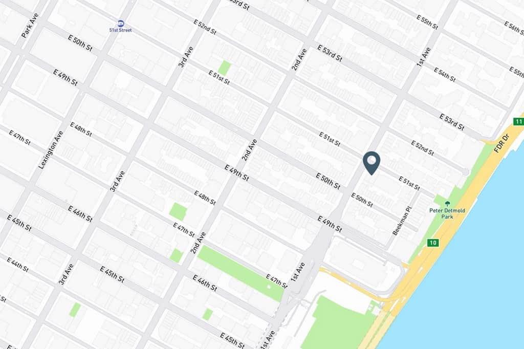 Samuel Realty Group | 400 East 51st Street, Apt 20B, Turtle Bay, NY 10022 Map