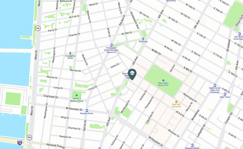 Samuel Realty Group | 135 West 3rd Street, Apt 3, West Village, NY Map