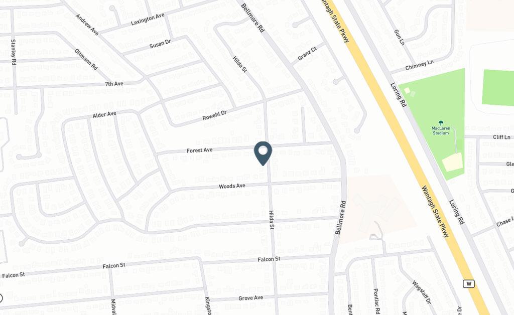 Samuel Realty Group | 430 Hilda Street, East Meadow, NY 11554 Map